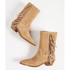 NWOT Rebecca Minkoff Krissa Fringe Western Boots